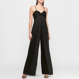 Express Pleated Twist Front Wide Leg Jumpsuit